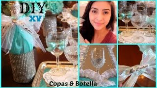 getlinkyoutube.com-How To Make Your Own Quinceañera Toast Cups & Bottle! (Copas y Botella)