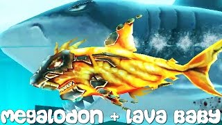 getlinkyoutube.com-Hungry Shark Evolution - Megalodon + Lava Baby
