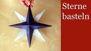 getlinkyoutube.com-Sterne basteln - 3D-Weihnachtssterne basteln - Weihnachtsdeko - Basteln für Weihnachten