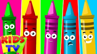 getlinkyoutube.com-Five Little Crayons | Nursery Rhymes For Toddler And Childrens | Songs For Baby