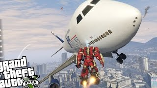 getlinkyoutube.com-GTA 5 PC Iron Man Mod - HULKBUSTER + ANGRY PLANES MOD! (Epic Madness - GTA V)