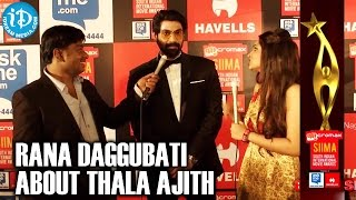 getlinkyoutube.com-Rana Daggubati About Thala Ajith @ SIIMA 2014
