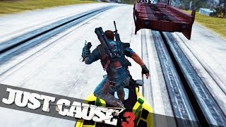 getlinkyoutube.com-JETSKI TRAIN SURFING! :: Just Cause 3 Funny Epic Moments