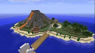 getlinkyoutube.com-#1 Minecraft Timelapse Volcanic Island