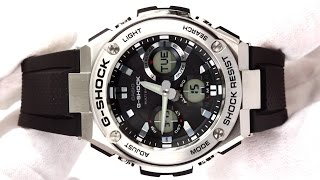 getlinkyoutube.com-Hands On With The Men's Casio G Shock Watch GST-W110-1AER