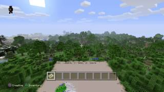 getlinkyoutube.com-Minecraft Ps4 - Best Seed - 4 Villages, Rivine At Spawn And Sand Temple!!