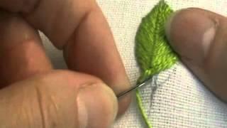 getlinkyoutube.com-Fly Stitch Leaf (Closed)