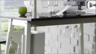 bartisch mit hockern für ihre küche - massivum - youtube, Garten und bauen