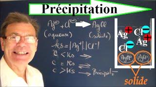 Chimie : Précipitation et dissolution de sels ioniques et ks