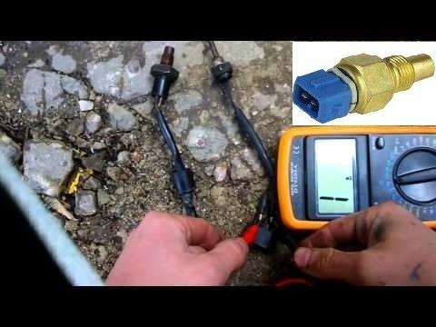 Проверка датчика температуры охлаждающей жидкости.Check the temperature sensor coolant.