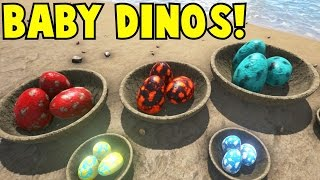 getlinkyoutube.com-Baby Dinos! Ark Survival Evolved