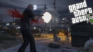 GTA 5 PLAY AS A COP MOD, PART #4 - SPOOKY GHOST TOWN (GTA 5 Funny Moments)
