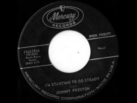 Johnny Preston - I'm Starting To Go Steady, 1960 Mercury 45 record.