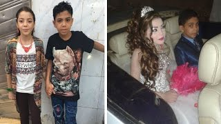 getlinkyoutube.com-Child Marriage; 12 y.o boy will marry 11 y.o cousin and couple is given father's blessing in Egypt