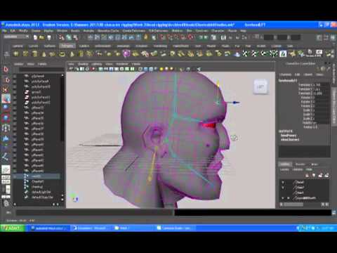rigging a head in Maya