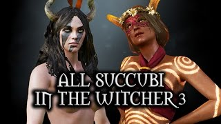 getlinkyoutube.com-The Witcher 3: Wild Hunt - All Succubi in The Witcher 3