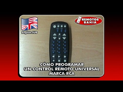 How Program Rca Rcu Universal Remote Control Remotos Bahia