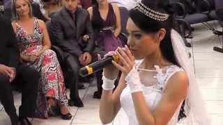 getlinkyoutube.com-Noiva cantando - Casamento Andresa e Douglas