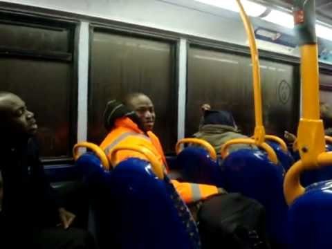 Africans Arguing On A London Bus.. *****CLASSIC****