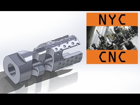 Gimme a Brake! Machining a DIY CNC 9MM AR-15 Muzzle Brake! SolidWorks Design Video