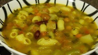 getlinkyoutube.com-Afghan Pasta Soup(Soup e Macaroni)