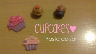 getlinkyoutube.com-CupCakes con Pasta de sal | 3 Maneras de pintar tus figuras | Figuras de masa flexible