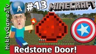 getlinkyoutube.com-Minecraft REDSTONE Secret DOOR Tutorial! Xbox One Silly Captain America Hat HobbyGamesTV