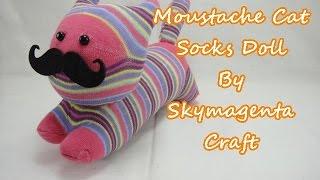 getlinkyoutube.com-Socks Doll - Moustache Cat