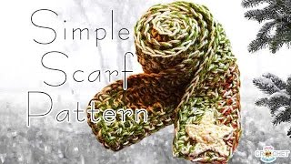 getlinkyoutube.com-Crochet Scarf Pattern - Easy * Fast * Warm!