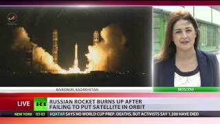 getlinkyoutube.com-Proton-M rocket with advanced Russian satellite explodes shortly after launch