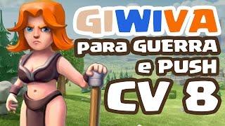 getlinkyoutube.com-Clash of Clans - COMO ATACAR COM GIWIVA no CV 8 e DETONAR ( Valquiria, Mago, Gigante )