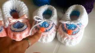 getlinkyoutube.com-Zapatitos a crochet