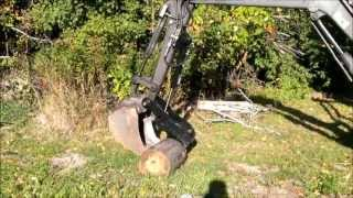 getlinkyoutube.com-Showtime Fabrication hydraulic excavator thumb on Volvo EC30 mini backhoe
