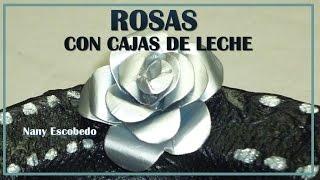ROSAS CON CAJA DE LECHE