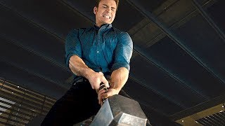 """AVENGERS 2 Age of Ultron  Movie Clip """"Lifting Thor's Hammer"""""""