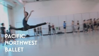 getlinkyoutube.com-PNB's Company Class-Jumping (Pacific Northwest Ballet)