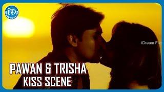 getlinkyoutube.com-Pawan Kalyan Trisha Lip Lock | Teenmaar Movie