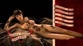 getlinkyoutube.com-Bodypainting Retro Tattoo Makeup by Lilly Keys