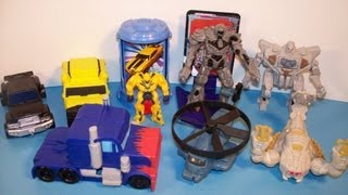 getlinkyoutube.com-2007 TRANSFORMERS SET OF 8 BURGER KING KID'S MEAL MOVIE TOY'S VIDEO REVIEW