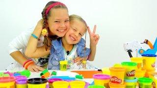 getlinkyoutube.com-Пластилин Play Doh. ТОРТ - Как слепить из Пластилина. Мастер Класс для детей