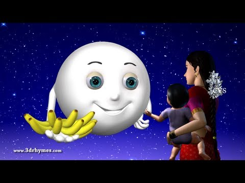 Chandamama Raave - 3D Animation Telugu Rhymes for children with lyrics