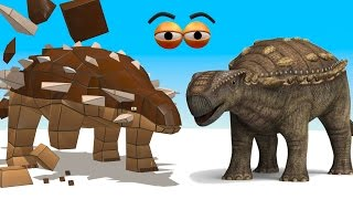 getlinkyoutube.com-CUBE BUILDER for KIDS (HD) - Build an Ankylosaurus Dinosaur for Children - AApV
