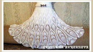 getlinkyoutube.com-Вяжем вместе - юбка с ананасами. Часть 2. knitted crochet skirt