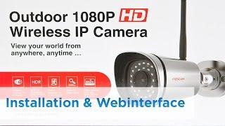 getlinkyoutube.com-Foscam FI9900P - Teil 2 - Installation & Webinterface/Features