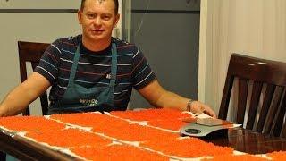 getlinkyoutube.com-ИКРА ЛОСОСЕВАЯ. МАЛОСОЛЬНАЯ. From Salmon roe to caviar