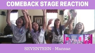 getlinkyoutube.com-[FANGIRL] Reaction | SEVENTEEN - ROCK & MANSAE COMEBACK STAGE