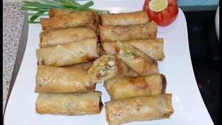 getlinkyoutube.com-Spring Roll اسپرنگ رول / Cook With Saima