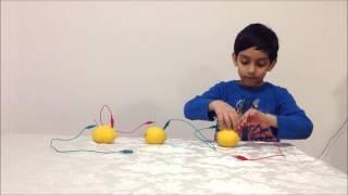 getlinkyoutube.com-How to make a lemon battery