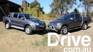getlinkyoutube.com-Mitsubishi Triton v Toyota HiLux Comparison Review | Drive.com.au