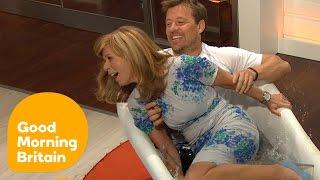 getlinkyoutube.com-Ben Shephard DRAGS Kate Garraway Into an ICE BATH! | Good Morning Britain